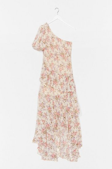 Cream Nip It in the Bud Floral Maxi Dress