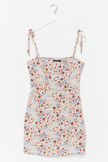 Stone That's a Re-leaf Floral Mini Dress