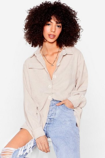 Stone Big Cord And Beautiful Oversized Cord Shirt