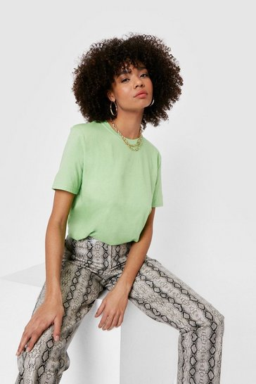Lime Face the Facts Basic Relaxed Tee
