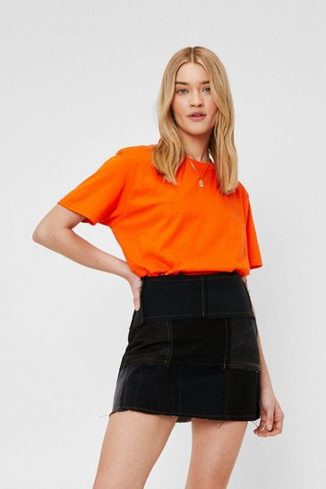 Orange Face the Facts Basic Relaxed Tee