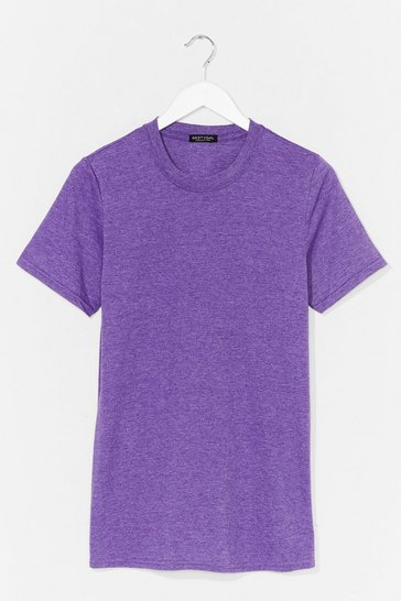 Purple Face the Facts Relaxed Tee
