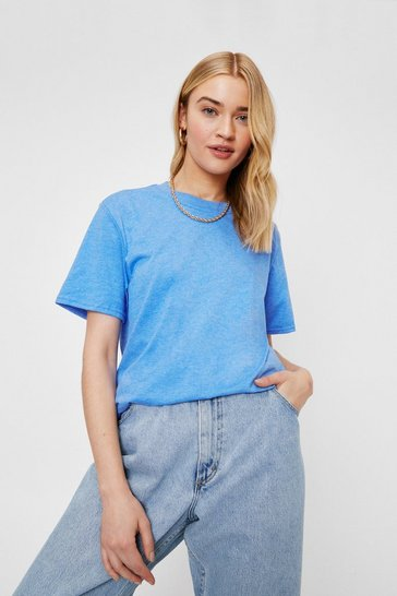 Washed blue Face the Facts Basic Relaxed Tee