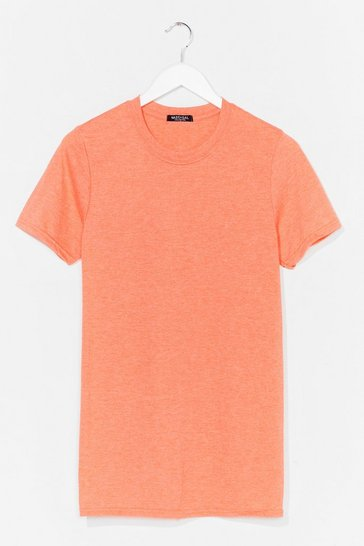 Tropical orange Face The Facts Oversized Tee