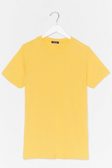 Yellow Face The Facts Oversized Tee