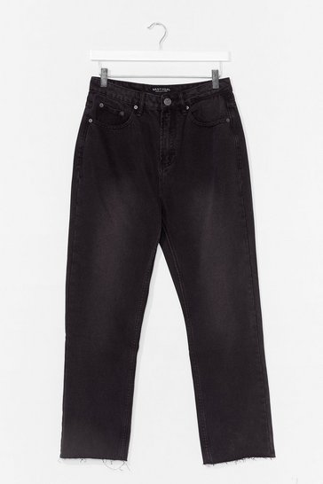 Black Tell Us What You Flare Cropped Jeans