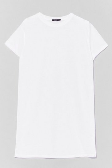 White Let's Start with the Basics Longline Tee