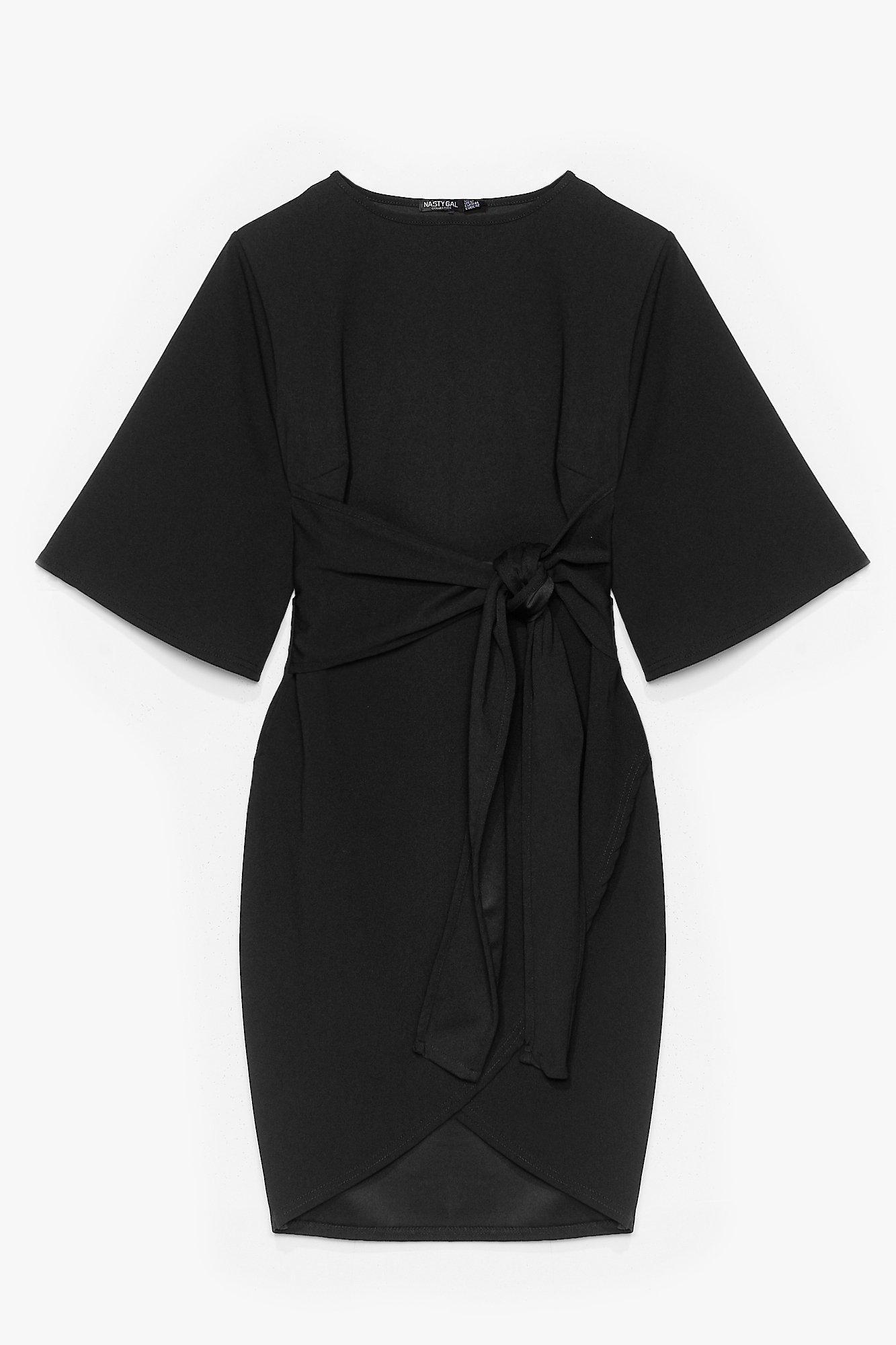 No Harm in Tie-ing Plus Wrap Dress 8