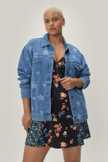Blue Baby You're a Star Plus Denim Jacket