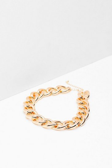 Gold Make a Change Chain Chunky Necklace