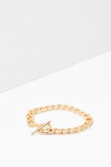 Gold Off the Chain Chunky T-Bar Bracelet