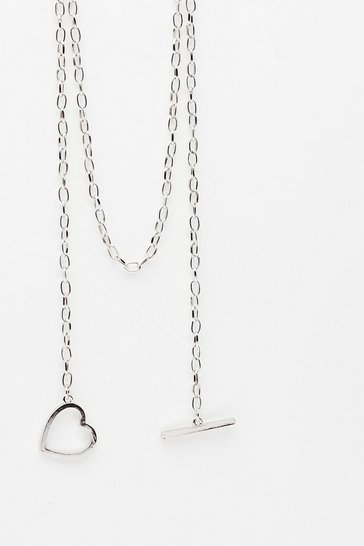 Silver From the Heart Multiway T-Bar Necklace
