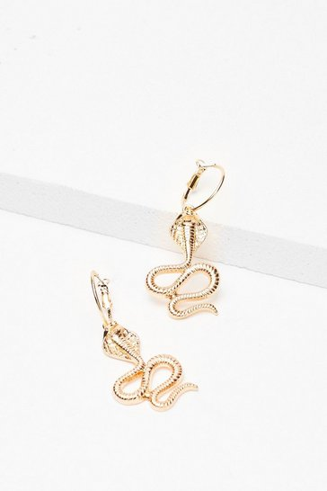 Gold Serpent It All Drop Snake Earrings