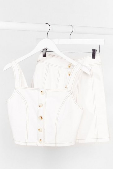 White Smells Like Jean Spirit Denim Skirt