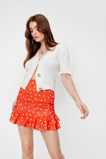 Red You Dot to Dance High-Waisted Mini Skirt