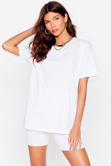 White Sofa Surfin' Oversized Tee and Shorts Set