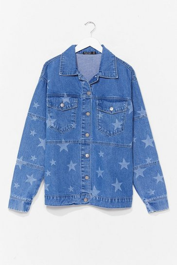 Light blue Baby You're a Star Relaxed Denim Jacket
