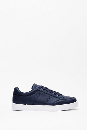 Navy I Am What I Am Perforated Sneakers