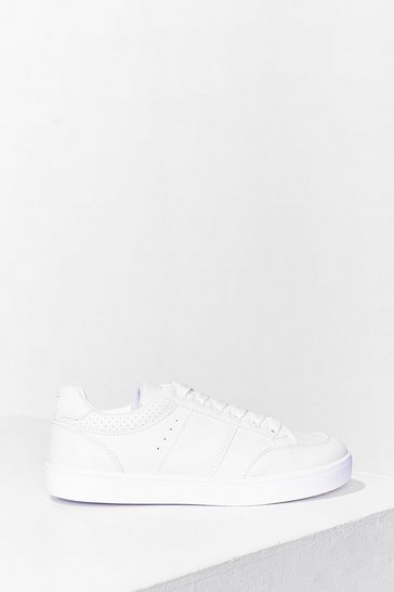 White I Am What I Am Perforated Sneakers