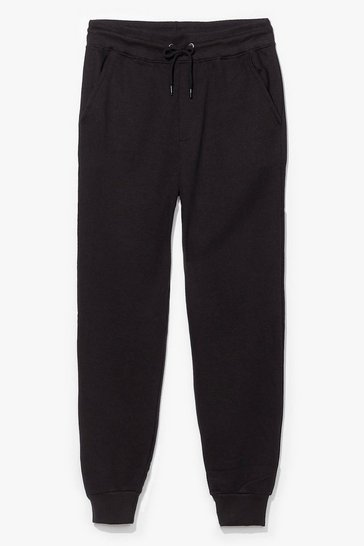 Black What a Softie High-Waisted Lounge Joggers