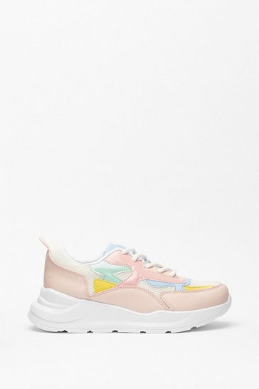 Multi Run With It Faux Leather Two-Tone Sneakers