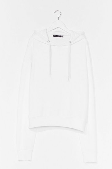 White Take Your Pick Oversized Lounge Hoodie