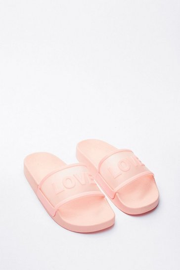Pink Love Slide Chunky Graphic Sliders