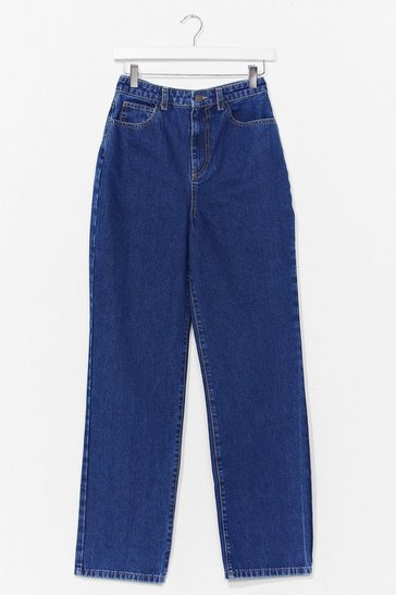 Dark blue A Real Straight Leg High-Waisted Jeans