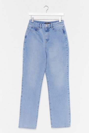 Light blue A Real Straight Leg High-Waisted Jeans