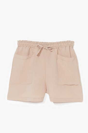 Sand It's Not Pocket Science High-Waisted Shorts
