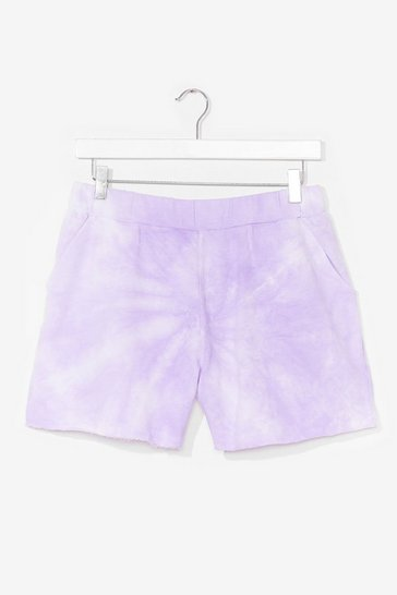 Lilac Be My Baby Tie Dye Shorts