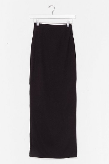 Black For Everything and Anything Jersey Maxi Skirt