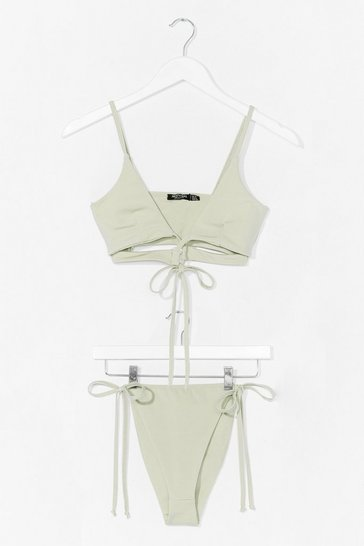 Sage Let's Tessellate High-Leg Triangle Bikini Set