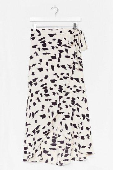 White Spot What It Takes Wrap Midi Skirt