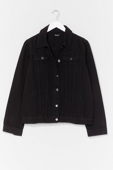 Black Oversized and Out Seam Denim Jacket