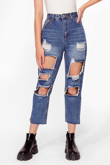 Light blue Keep a Cool Shred Distressed Denim Jeans