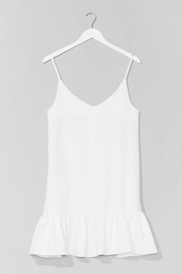 White Hem in Rome Relaxed Mini Dress