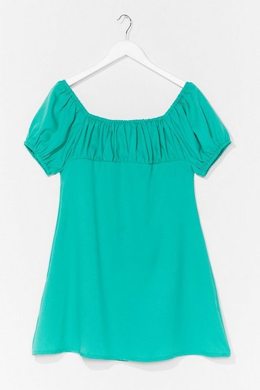 Bright green Dancing Days Puff Sleeve Mini Dress