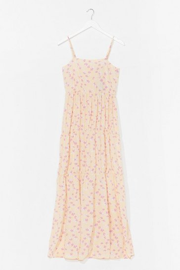 Lemon Just What We Seed Floral Maxi Dress