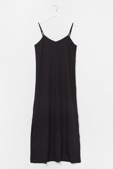Black Sunset Lover V-Neck Midi Dress
