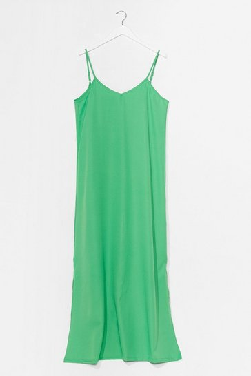 Olive Sunset Lover V-Neck Midi Dress