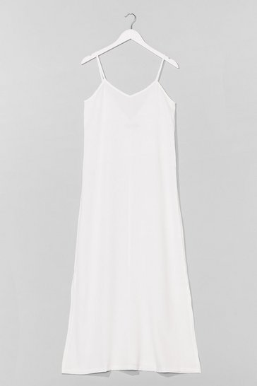 White Sunset Lover V-Neck Midi Dress