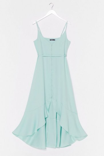 Sage Slow Dance Belted Midi Dress