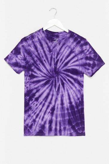 Purple Chill Out Tie Dye Relaxed Tee