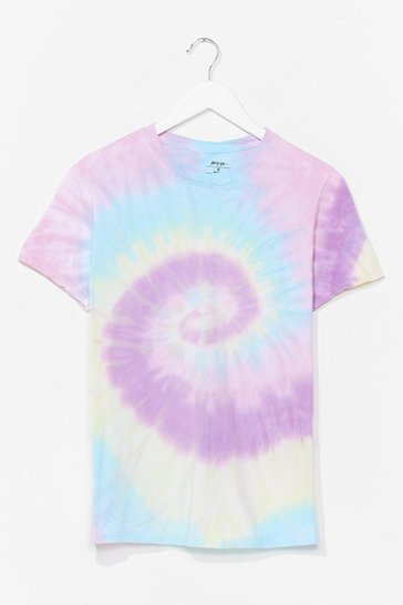 Lilac Good Vibes Tie Dye Relaxed Tee