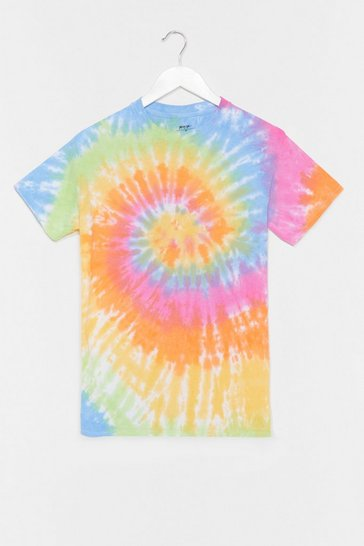 Blue Good Vibes Tie Dye Relaxed Tee