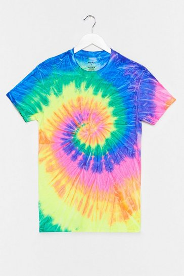 Navy Good Vibes Tie Dye Relaxed Tee