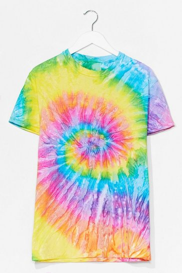 Green Tie Dye Relaxed T-Shirt