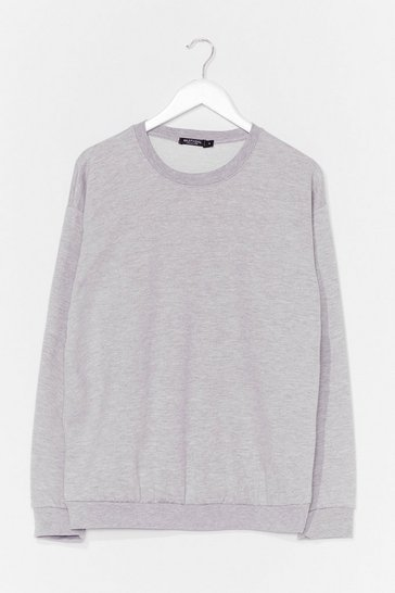 Grey The Simple Things Oversized Sweatshirt
