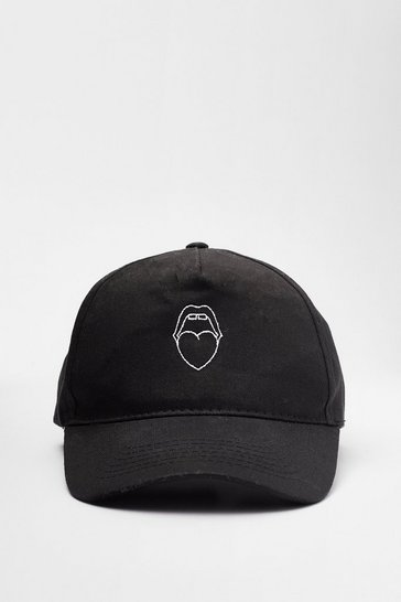 Black Mouth Off Graphic Baseball Cap